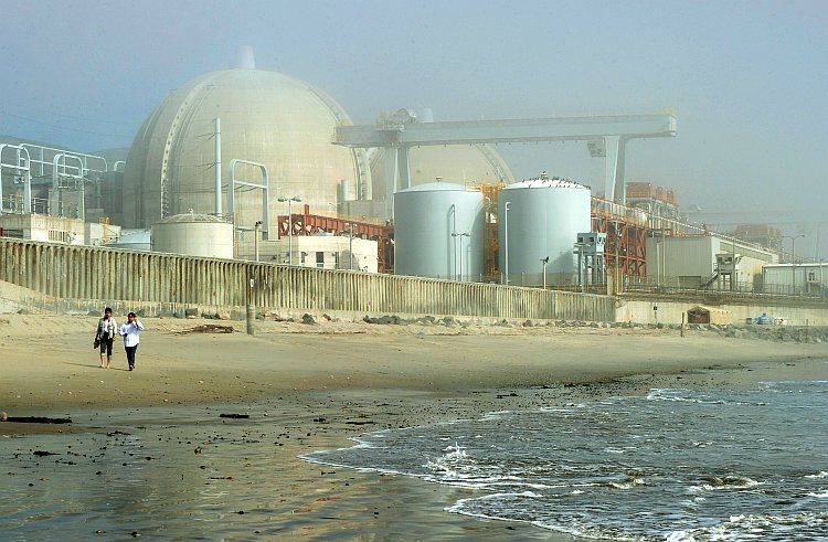The San Onofre Nuclear Power Plant in north San Diego County