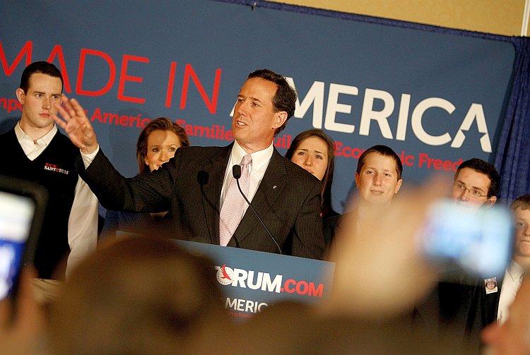 Republican presidential candidate, former U.S. Sen. Rick Santorum