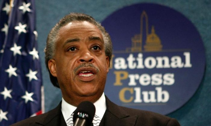 File photo of Al Sharpton at the National Press Club. (Mark Wilson/Getty Images)