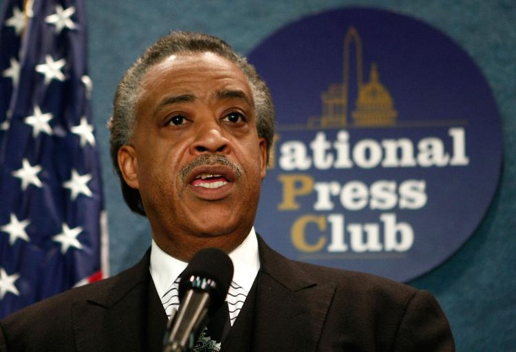 Al Sharpton seen in an earlier photograph at the National Press Club. On Tuesday, Sharpton called on Cuba to release several jailed Afro-Cuban political dissidents. (Mark Wilson/Getty Images)