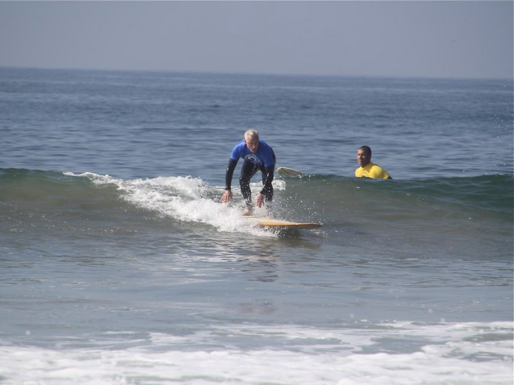 John Slattery, an actor in the hit show 'Mad Men,' said that 'surfing is a good antidote to show business.' (Danielle Kaiser)