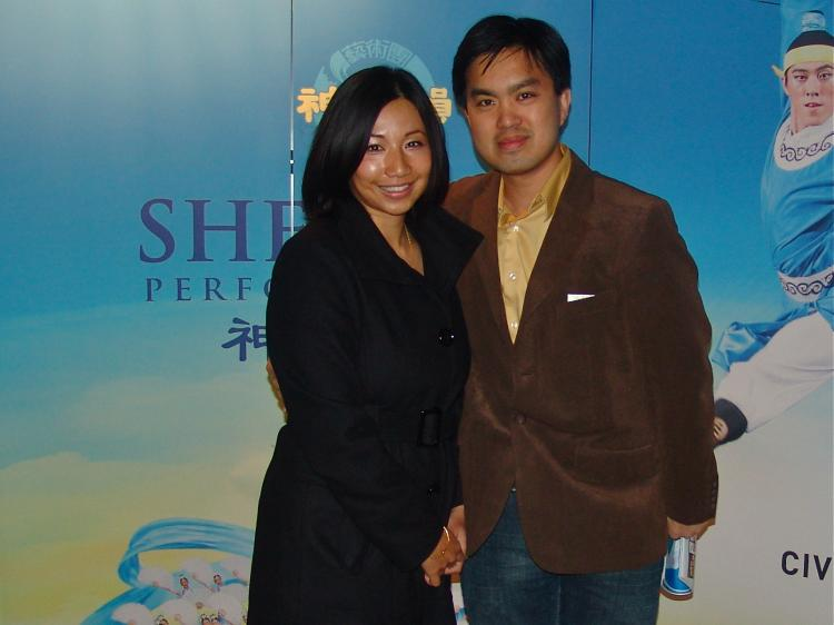 Sharon Lee and Tony Moy at Shen Yun Performing Arts in Chicago. (Charlie Lu/The Epoch Times)