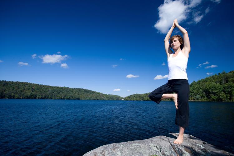 TREE POSE: A good exercise to improve one's balance.  (Photos.com)