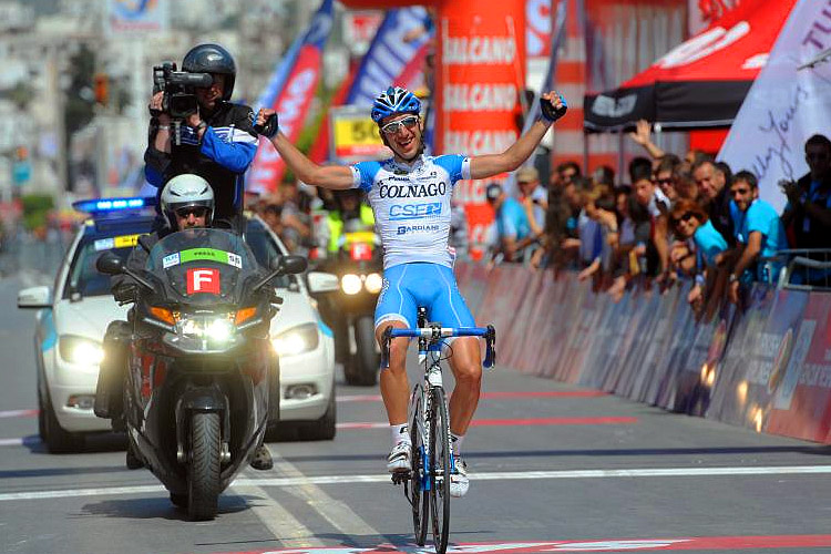 Andrea Di Corrado of Colnago attacked the breakaway and rode home alone to his first professional win in Stage Five of the Tour of Turkey. (TourofTurkey.org)