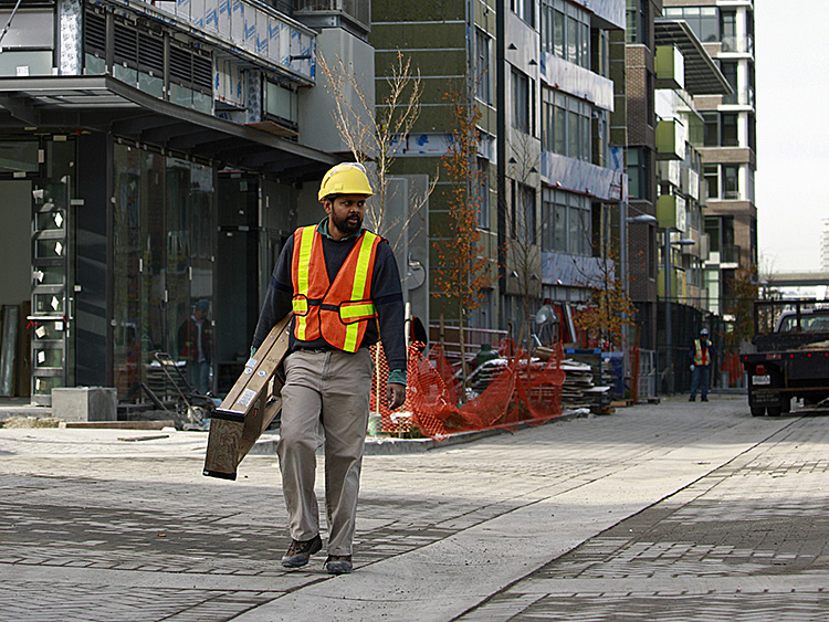 File photo showing a construction site in Vancouver, British Columbia.