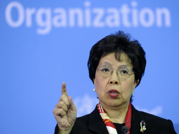 The Director-General of the World Health Organization (WHO) Margaret Chan speaks during a press conference to present the 'The World Health Report 2010' at the German health ministry in Berlin on November 22, 2010. More than 100 million people are plunged into poverty every year by illness or 'catastrophic' medical bills, the WHO said, launching a global drive for universal health care. (Odd Andersen/AFP/Getty Images)