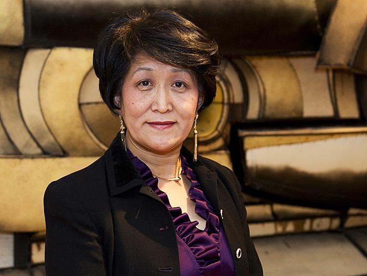 Wenyi Wang pictured in the lobby of Lincoln Center in New York on January 16, 2011. (Dai Bing/Epoch Times Staff)