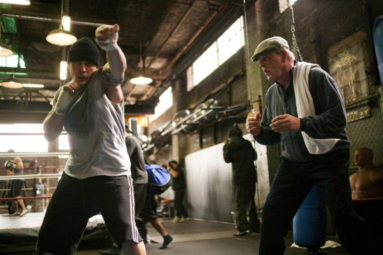 Tom Hardy and Nick Nolte in 'Warrior.' (Chuck Zlotnick/Lionsgate Publicity )