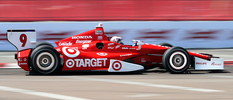 Scott Dixon's Target-Ganassi Dallara-Honda was fastest at Tuesday's IndyCar test at Texas Motor Speedway. (James Fish/The Epoch Times)