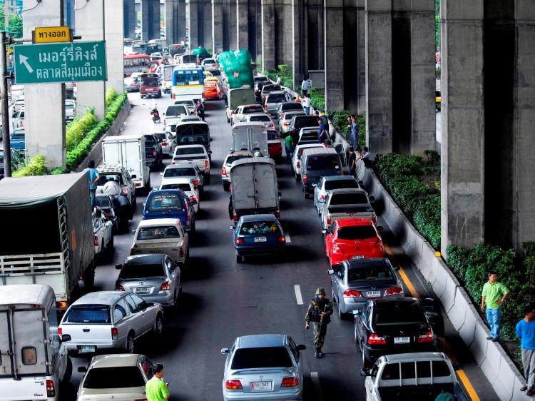 A traffic jam in Bangkok, Thailand. (Andy Nelson/Stringer/Getty Images)