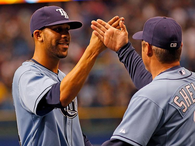 SHINING RAYS: The Tampa Bay Rays are setting the pace in the majors after the month of April. (J. Meric/Getty Images)