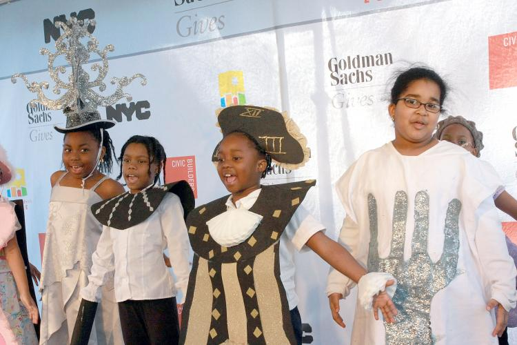 BE MY GUEST: Students from the Promise Academy charter school founded by Harlem Children's Zone perform 'Be My Guest' from 'Beauty and the Beast.' (Tara MacIsaac/The Epoch Times)
