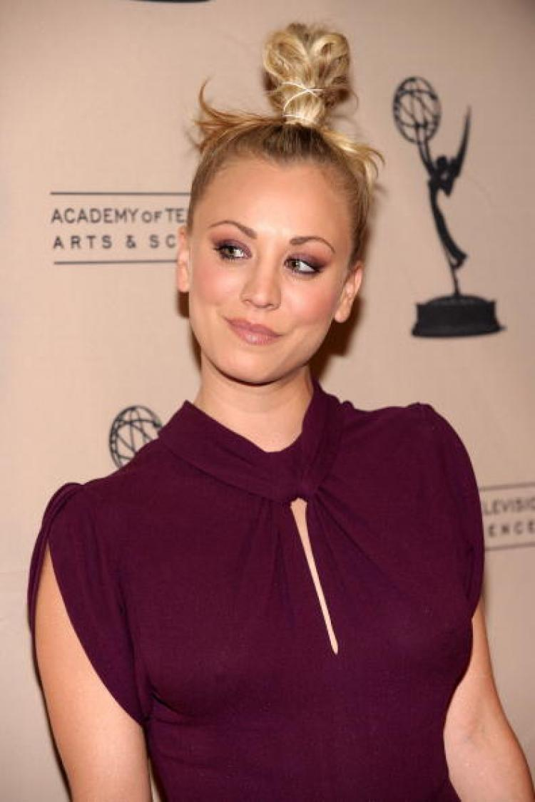 Big Bang Theory Actress Kaley Cuoco ('Penny') arrives at The Academy of Television Arts and Sciences' an evening with 'The Big Bang Theory' on February 18. (Alberto E. Rodriguez/Getty Images)