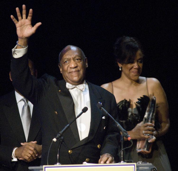 Bill Cosby accepts the Marian Anderson Award April 6, at The Kimmel Center for the Performing Arts in Philadelphia, PA. Bill Cosby is continuing his career as an entertainer with a proactive, positive example in the world of entertainment.  (Thomas Cain/Getty Images)