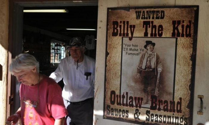 A photo of a store selling Billy the kid merchandise in Lincoln, New Mexico on October 21, 2010. (Mark Ralston/AFP/Getty Images)