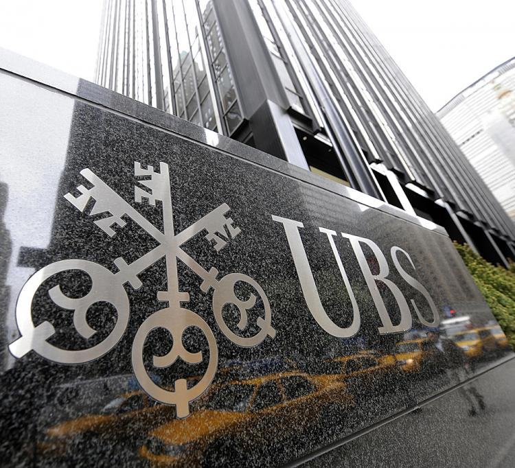 The UBS Park Avenue building in New York April 15, 2009. Embattled Swiss bank UBS on Wednesday said it would slash 8,700 jobs in a bid to cut costs after it reported fresh losses for the first three months of this year.   (Timothy A. Clary/AFP/Getty Images)