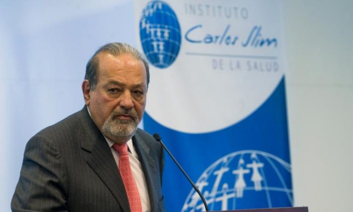 Mexican tycoon Carlos Slim prepares to speak during a press conference in Mexico City, on Jan 19, 2010. Carlos Slim is now the world's richest man, according to Forbes magazine's latest list of billionaires. (Alfredo Estrella/AFP/Getty Images)