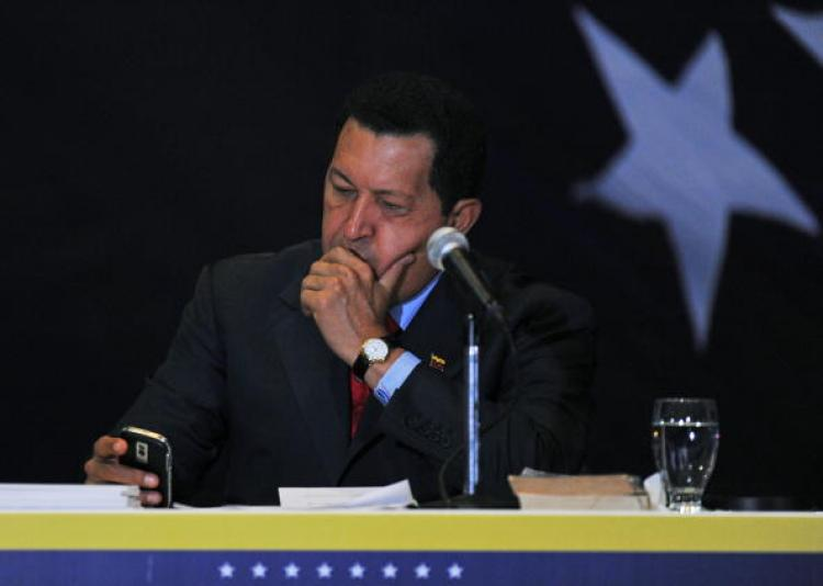 Venezuelan President Hugo Chavez (Juan Barreto/AFP/Getty Images)