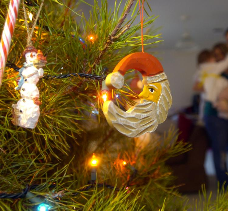 Christmas decorations and an happy tree like this used to greet the author every year during her childhood in Romania. (Stephen Morton/Getty Images)