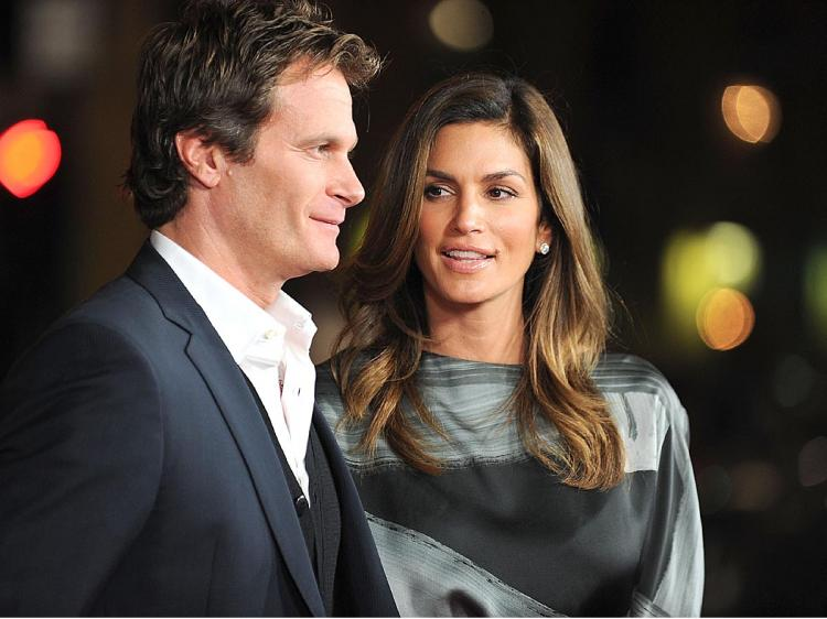 Hotel owner Rande Gerber and model Cindy Crawford. (Alberto E. Rodriguez/Getty Images)