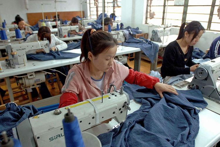 Clothing factories similar to this one in Anhui province, are facing crushing cost pressures. (AFP/Getty Images)