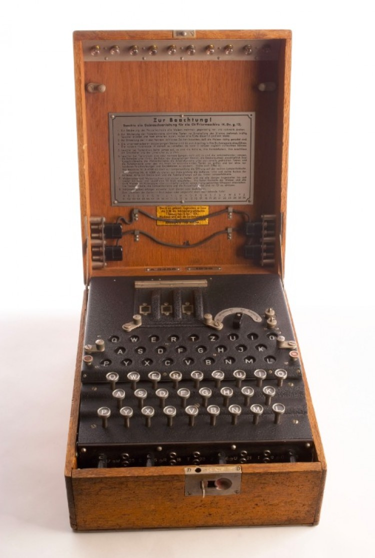 ENIGMA: The Enigma was a cipher machine used to encrypt German communications throughout World War II. (U.S. Government Work)