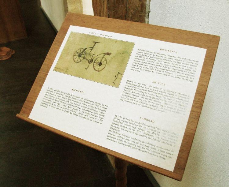 da Vinci, bicycle info