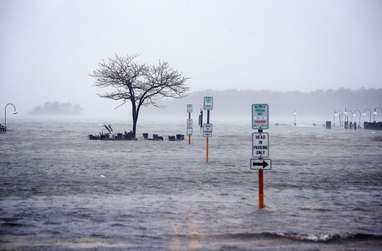 Streets are under water on Oct. 29 in Rehoboth Beach, Delaware. (Alex Wong/Getty Images)