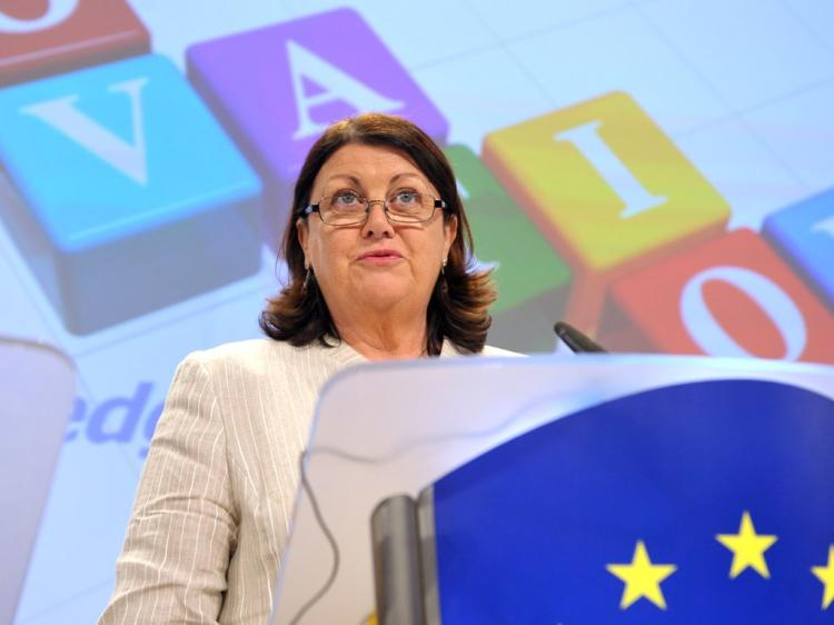 Máire Geoghegan-Quinn, EU chief of Research, Innovation and Science, announced on July 19 2010, at a press conference in Brussels, the biggest ever funding for European research and innovation, totaling over 6 billion euro.(Courtesy of European Union)