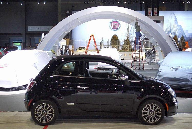 A Fiat 500 subcompact