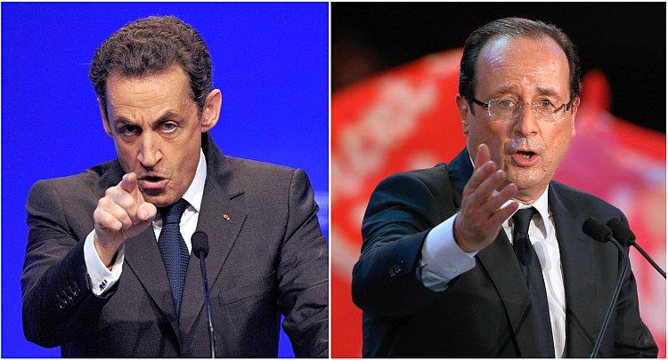 François Hollande, Nicolas Sarkozy