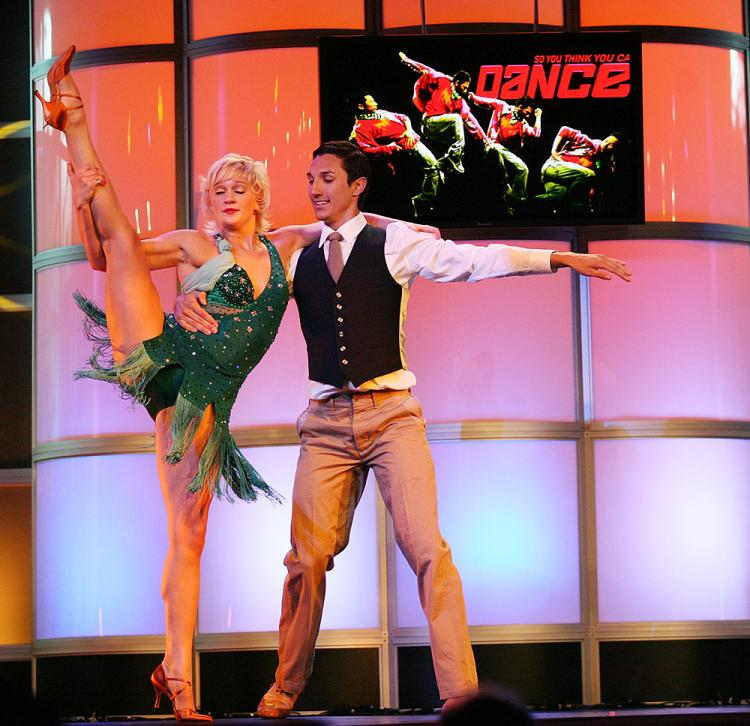 Dancers from the television show 'So You Think You Can Dance' perform during the Television Critics Association Press Tour at the Beverly Hilton Hotel July 14, 2008 in Beverly Hills, California.  (Frederick M. Brown/Getty Images)