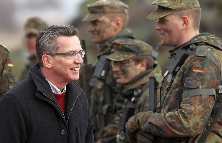 German Defense Minister Thomas de Maizière