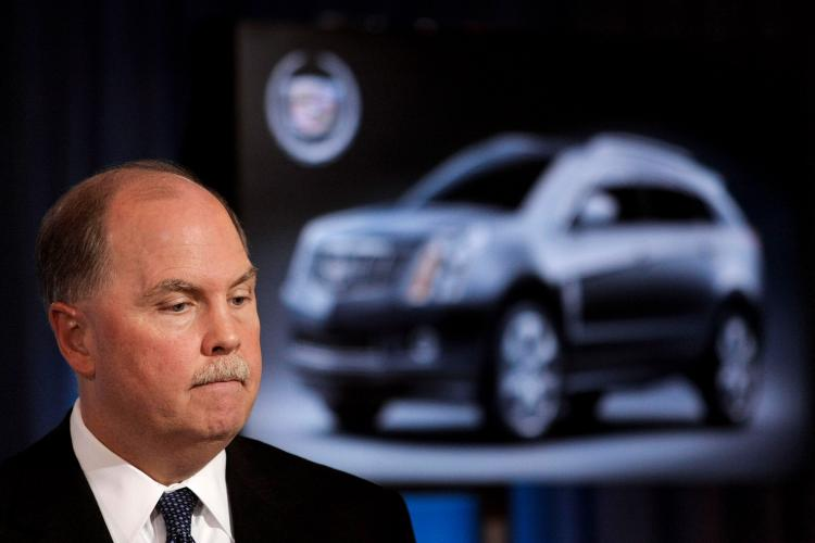 Fritz Henderson, Chief Executive Officer of General Motors, holds a press conference to give GM's first post-bankruptcy financial report at GM headquarters Nov. 16, 2009 in Detroit, Michigan. Henderson discussed GM's 3rd quarter earnings, posting a $1.2 b (Bill Pugliano/Getty Images)