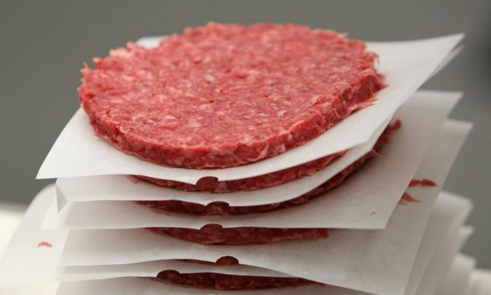 A stack of ground meat. (Justin Sullivan/Getty Images)