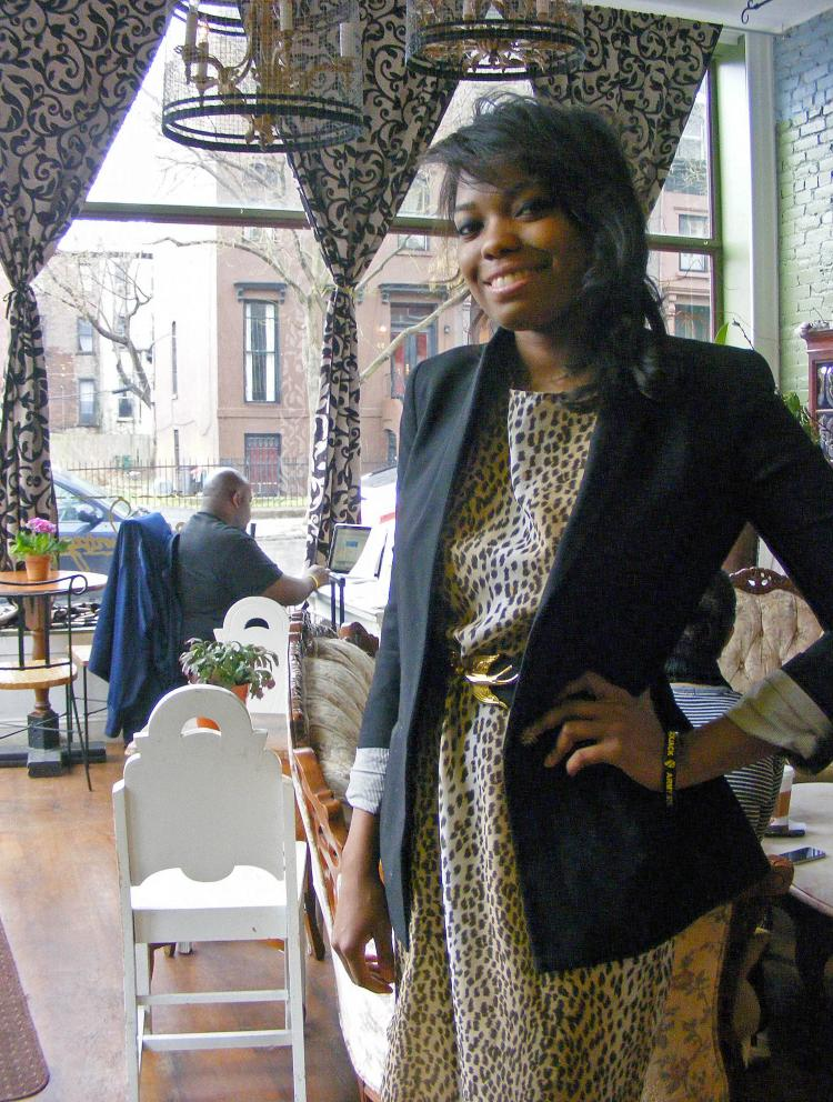 BROOKLYN ENTREPRENEUR: Emily Hazlewood, along with her sister, is owner of the Urban Vintage Cafe in Clinton Hill, Brooklyn.  (Gidon Belmaker/The Epoch Times)