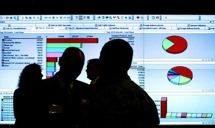 A Homeland Security event for Cybersecurity and Communications Integration Center facility. A wide-ranging cybersecurity bill was passed unanimously by the Senate Committee on Homeland Security and Governmental Affairs, last week.  (Win McNamee/Getty Images)
