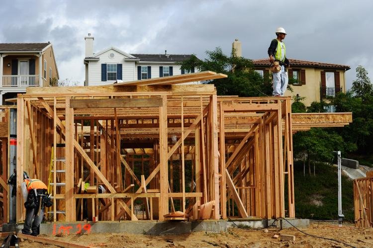 New home construction in the U.S. declined in December 2010 compared to the previous month, according to a Commerce Department report. (Kevork Djansezian/Getty Images)