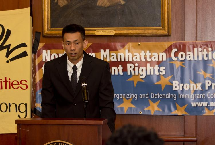 PLEASE PARDON: Tam Pham, a Vietnamese immigrant who faces deportation after spending 17 years in jail, asks Gov. Andrew Cuomo to expand the state's Immigration Pardon Panel so he can have a chance at permanent residency.  (Phoebe Zheng/The Epoch Times)