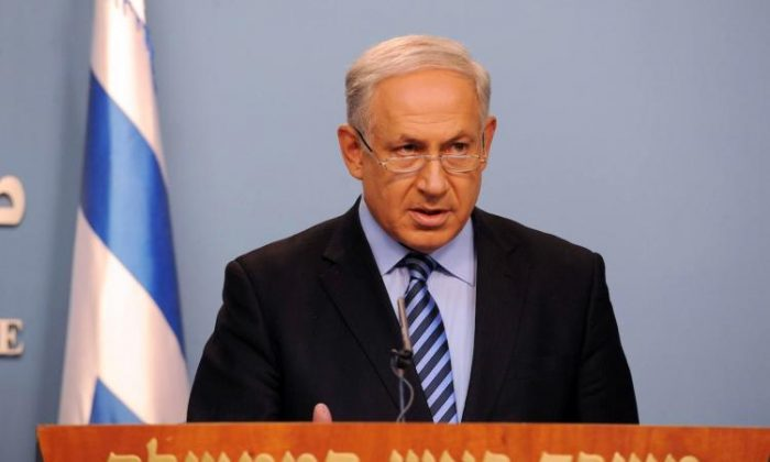 Israeli prime minister Benjamin Netanyahu speaks during a press conference on June 2 in Jerusalem, Israel. Netanyahu defended the blockade on Gaza on national security reasons. (Amos Ben Gershom/GPO via Getty Images)