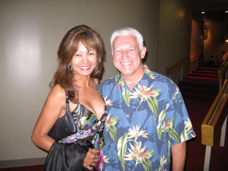 Mr. and Mrs. Kline in the foyer, after having enjoyed the show (The Epoch Times)