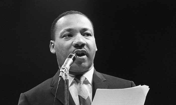 A recording of a speech by Martin Luther King (seen in this 1966 photograph) turned up at a college in Kansas. (AFP/Getty Images)