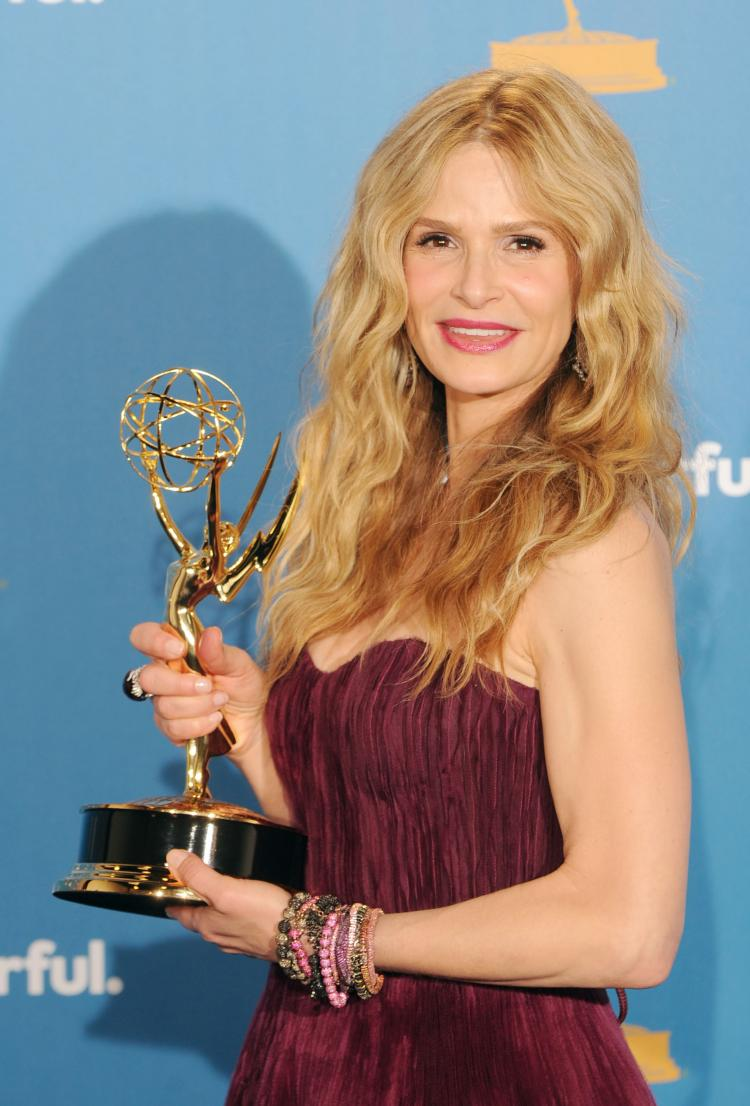 Kyra Sedgwick, winner of the Outstanding Lead Actress in a Drama Series Award for 'The Closer' poses in the press room at the 62nd Annual Primetime Emmy Awards held at the JW Marriott Los Angeles at LA Live on August 29, 2010 in Los Angeles, California. (Jason Merritt/Getty Images)