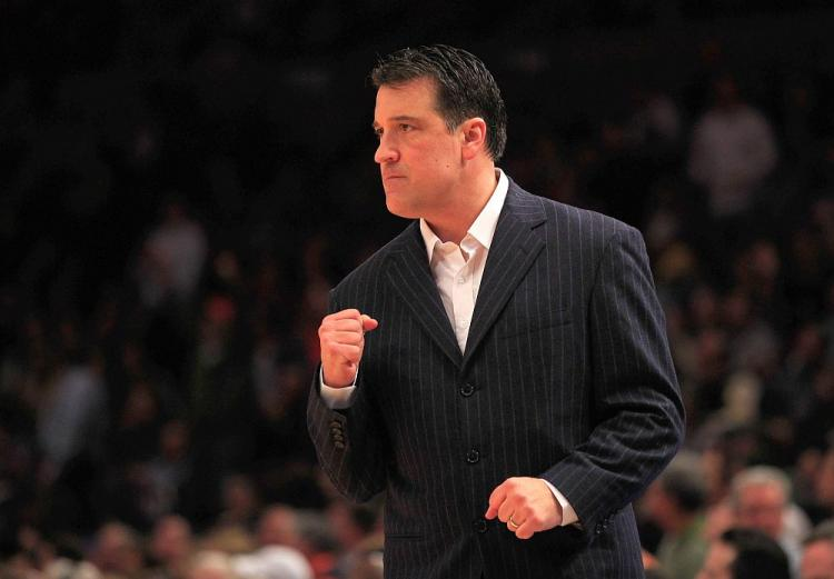 SEEING RED: St. John's basketball coach Steve Lavin has built the team back up to championship contenders. (Chris Trotman/Getty Images)