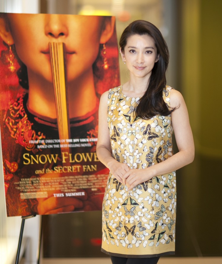'Snow Flower and the Secret Fan' actress Bingbing Li at a press conference at the Fox Searchlight Pictures office in Manhattan, July 13.  (Edward Dai/ Epoch Times)