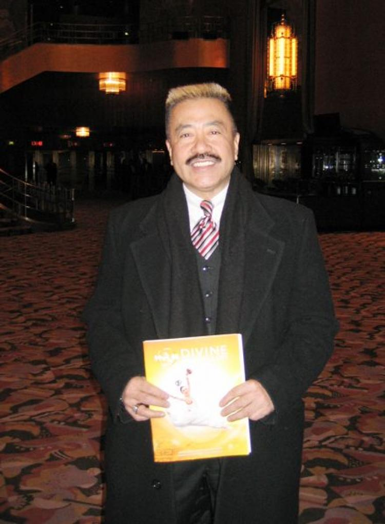 Martial arts master Bill Louie at Radio City Music Hall on January 25, the eve of the Lunar New Year. (Wei Junyu/The Epoch Times)