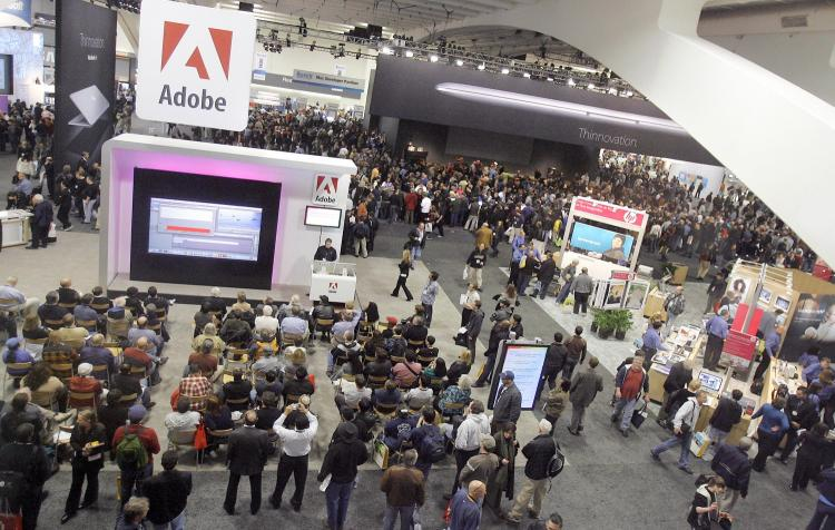 The crowd at last year's MacWorld in 2008. Apple announced that this year's MacWorld will be the company's last. (Tony Avelar/AFP/Getty Images))