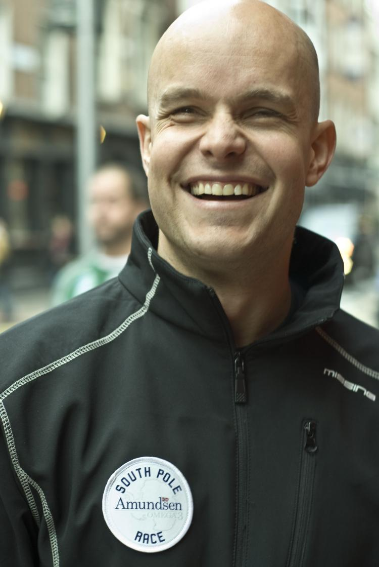 Mark Pollock in Dublin, December 2008, prior to his departure for the South Pole, where he became the first blind man to track to the South Pole. (Martin Murphy/The Epoch Times)
