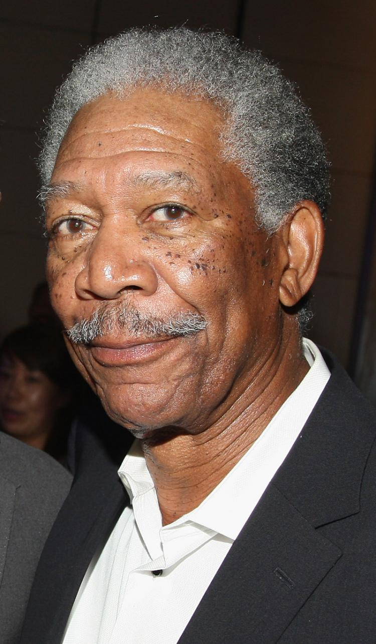 Morgan Freeman at the after party for the world premiere of 'The Dark Knight' at the Mandarin Oriental ballroom on July 14, 2008 in New York City. Freeman was seriously injured in a car accident on Monday August 4. (Stephen Lovekin/Getty Images)