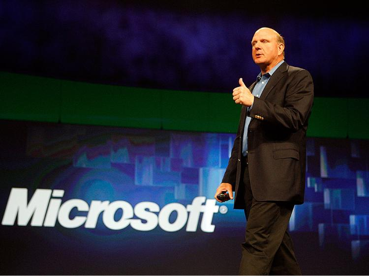 Steve Ballmer, Chief Executive Officer of Microsoft Corporation addresses the Microsoft Worldwide Partner Conference at the Morial Convention Center in New Orleans, Louisiana. (Chris Graythen/Getty Images)